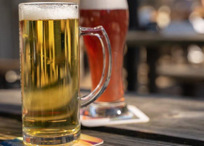 Beer garden in Newcastle
